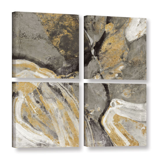 Brushstone Pheonix Neutral 4-pc. Square Gallery Wrapped Canvas Wall Art