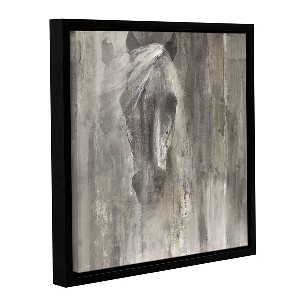 Brushstone Shadow Light Gallery Wrapped Floater-Framed Canvas Wall Art