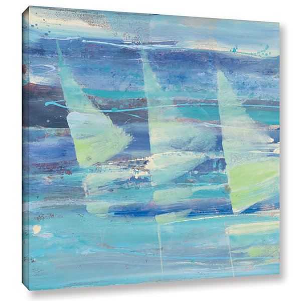 Brushstone Summer Sail I Gallery Wrapped Canvas Wall Art