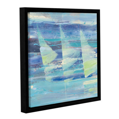 Brushstone Summer Sail I Gallery Wrapped Floater-Framed Canvas Wall Art