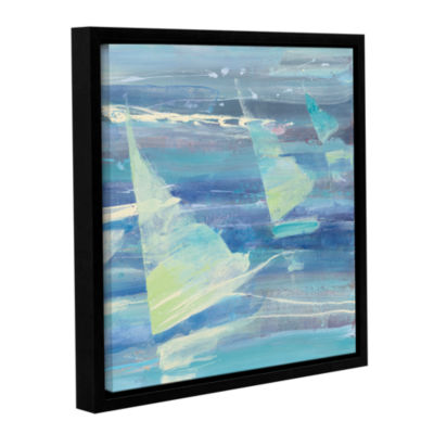 Brushstone Summer Sail II Gallery Wrapped Floater-Framed Canvas Wall Art