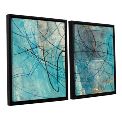 Brushstone To The Sea Crop 2-pc. Floater Framed Canvas Wall Art