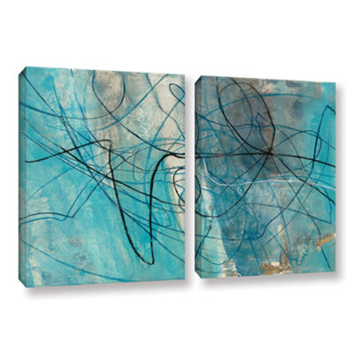 Brushstone To The Sea Crop 2-pc. Gallery Wrapped Canvas Wall Art