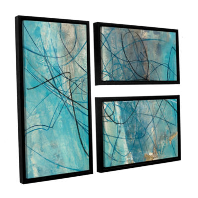Brushstone To The Sea Crop 3-pc. Flag Floater Framed Canvas Wall Art