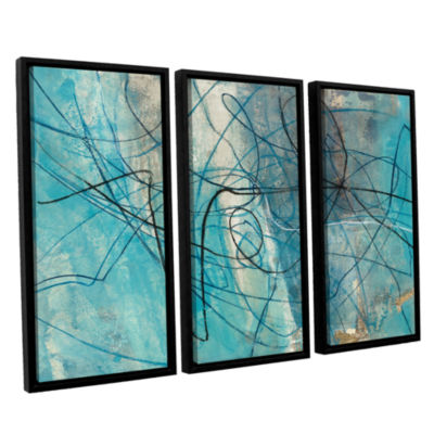 Brushstone To The Sea Crop 3-pc. Floater Framed Canvas Wall Art