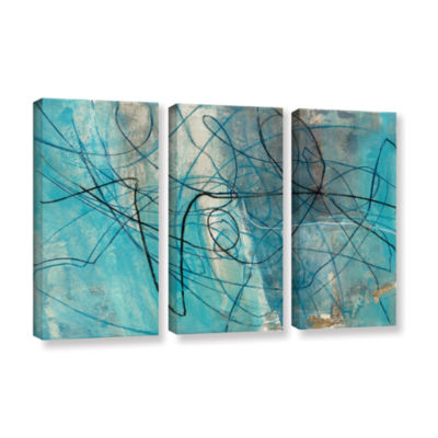 Brushstone To The Sea Crop 3-pc. Gallery Wrapped Canvas Wall Art