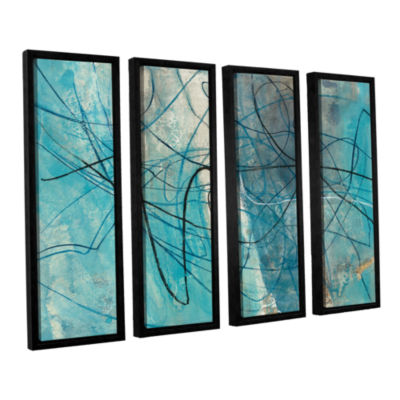 Brushstone To The Sea Crop 4-pc. Floater Framed Canvas Wall Art