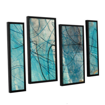 Brushstone To The Sea Crop 4-pc. Floater Framed Staggered Canvas Wall Art