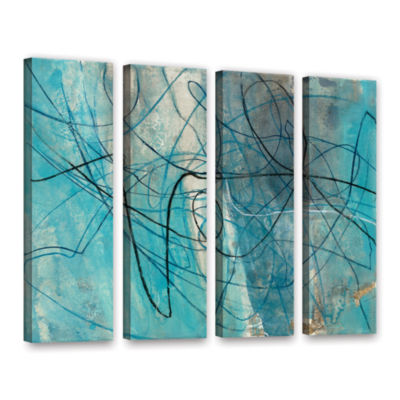 Brushstone To The Sea Crop 4-pc. Gallery Wrapped Canvas Wall Art