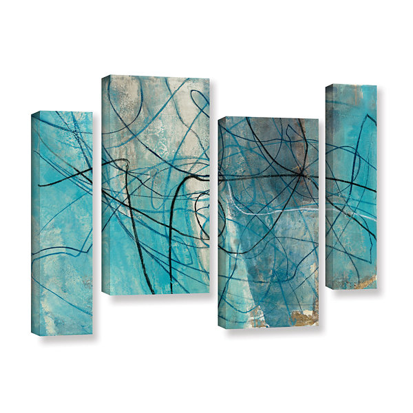 Brushstone To The Sea Crop 4-pc. Gallery Wrapped Staggered Canvas Wall Art