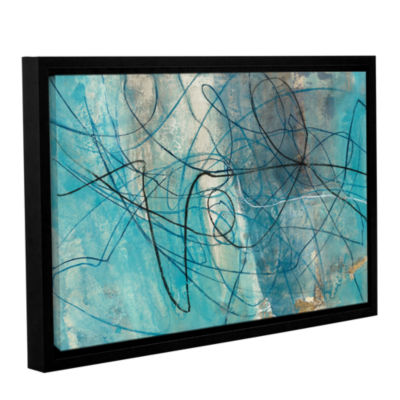 Brushstone To The Sea Crop Gallery Wrapped Floater-Framed Canvas Wall Art