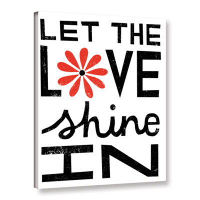 Brushstone Inspiration Love I Red Flowers GalleryWrapped Canvas Wall Art