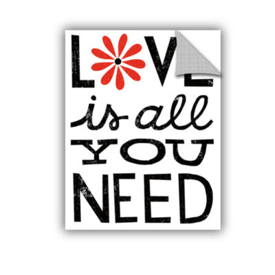 Brushstone Inspiration Love II Red Flowers Removable Wall Decal