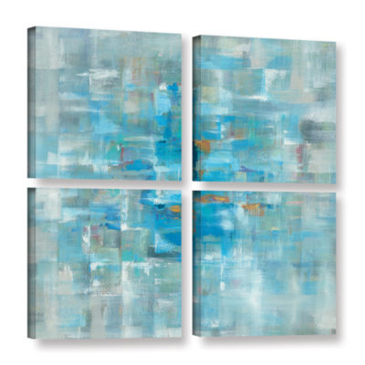 Brushstone Abstract Squares 4-pc. Square Gallery Wrapped Canvas Wall Art