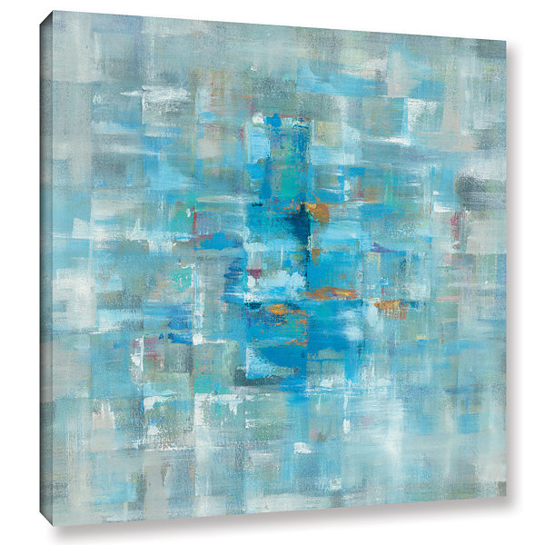 Brushstone Abstract Squares Gallery Wrapped CanvasWall Art