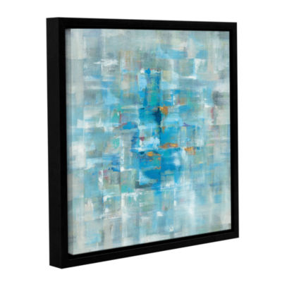Brushstone Abstract Squares Gallery Wrapped Floater-Framed Canvas Wall Art