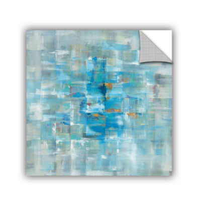 Brushstone Abstract Squares Removable Wall Decal