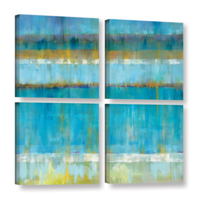 Brushstone Abstract Stripes 4-pc. Square Gallery Wrapped Canvas Wall Art