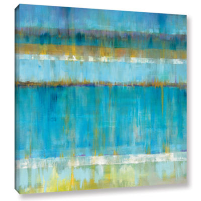 Brushstone Abstract Stripes Gallery Wrapped CanvasWall Art