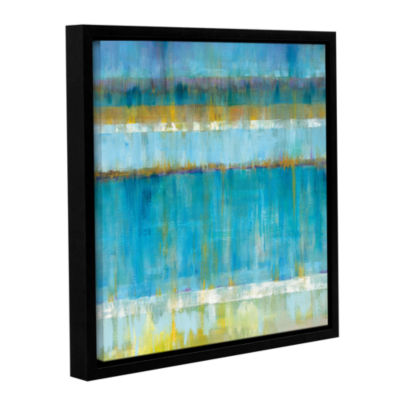 Brushstone Abstract Stripes Gallery Wrapped Floater-Framed Canvas Wall Art