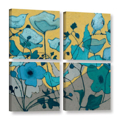 Brushstone Birdy Birdy 4-pc. Square Gallery Wrapped Canvas Wall Art