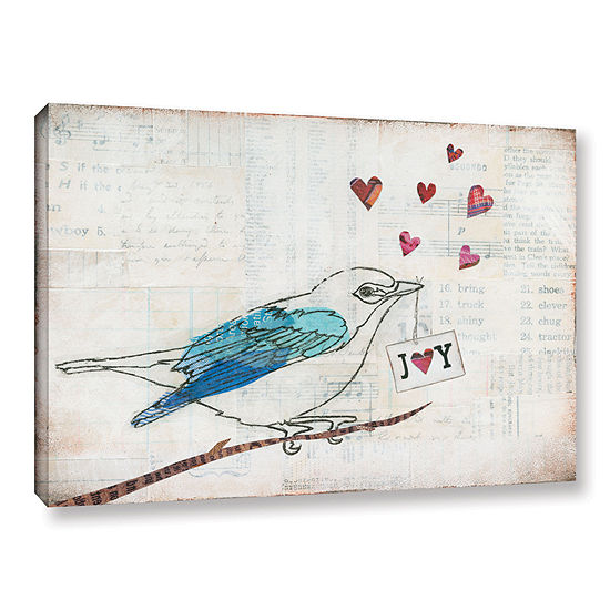 Brushstone Love Birds I Joy Gallery Wrapped CanvasWall Art