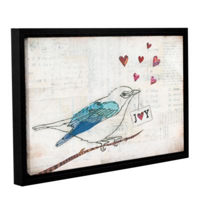 Brushstone Love Birds I Joy Gallery Wrapped Floater-Framed Canvas Wall Art