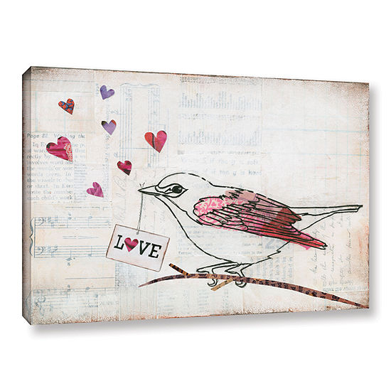 Brushstone Love Birds II Love Gallery Wrapped Canvas Wall Art