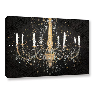 Brushstone Grand Chandelier Black I Gallery Wrapped Canvas Wall Art