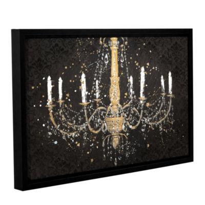 Brushstone Grand Chandelier Black I Gallery Wrapped Floater-Framed Canvas