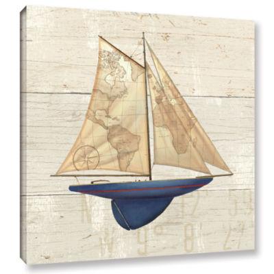Brushstone Nautique I Gallery Wrapped Canvas