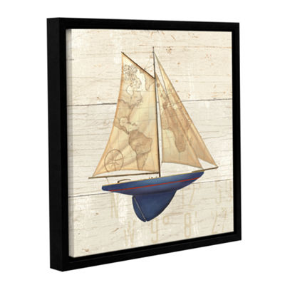 Brushstone Nautique I Gallery Wrapped Floater-Framed Canvas