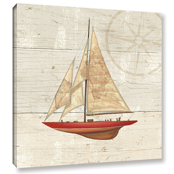 Brushstone Nautique II Gallery Wrapped Canvas