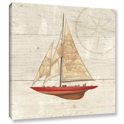 Brushstone Nautique II Gallery Wrapped Canvas