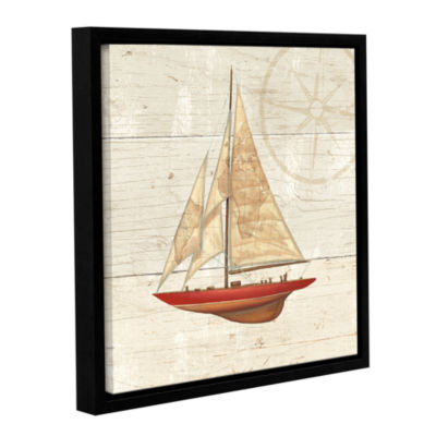 Brushstone Nautique II Gallery Wrapped Floater-Framed Canvas
