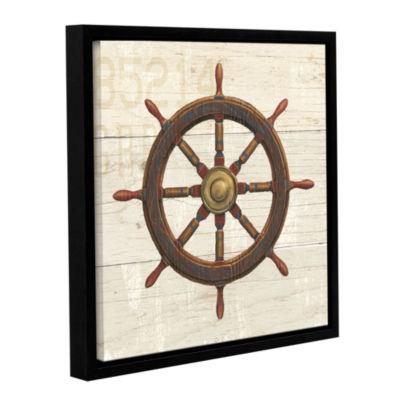 Brushstone Nautique V Gallery Wrapped Floater-Framed Canvas