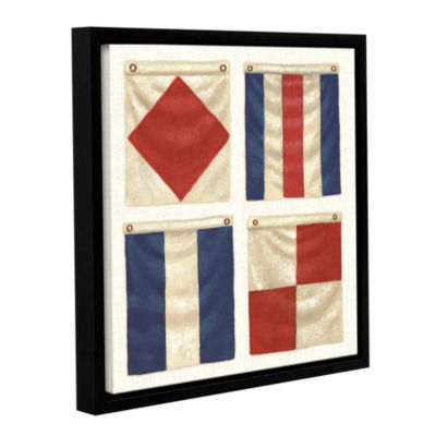 Brushstone Nautique XI Gallery Wrapped Floater-Framed Canvas