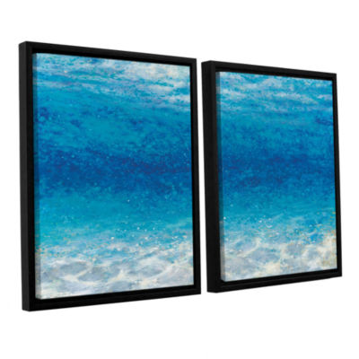 Brushstone Underwater I 2-pc. Floater Framed Canvas Set