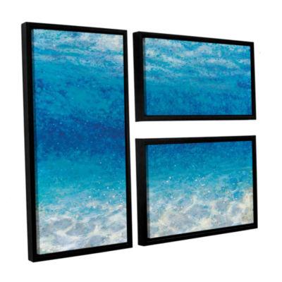 Brushstone Underwater I 3-pc. Floater Framed Canvas Flag Set