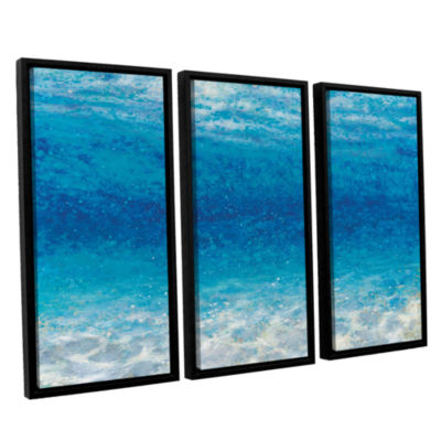 Brushstone Underwater I 3-pc. Floater Framed Canvas Set