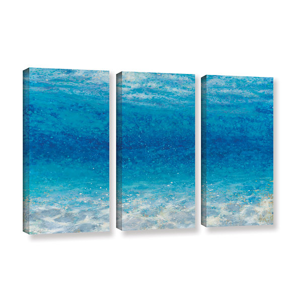 Brushstone Underwater I 3-pc. Gallery Wrapped Canvas Set