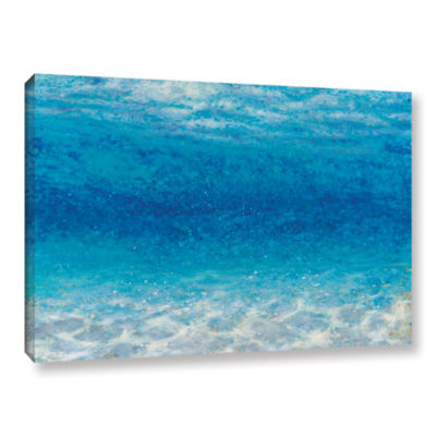 Brushstone Underwater I Gallery Wrapped Canvas
