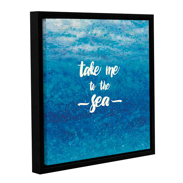 Brushstone Underwater Quotes I Gallery Wrapped Floater-Framed Canvas