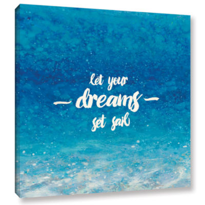 Brushstone Underwater Quotes II Gallery Wrapped Canvas Wall Art