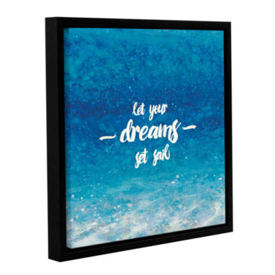 Brushstone Underwater Quotes II Gallery Wrapped Floater-Framed Canvas