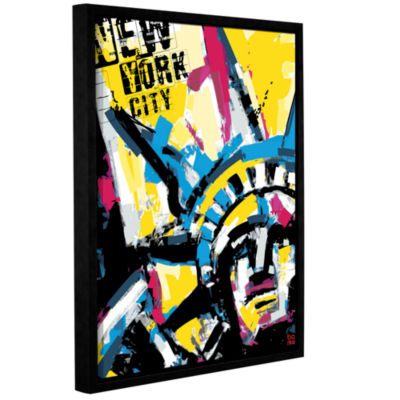 Brushstone NY1 Gallery Wrapped Floater-Framed Canvas Wall Art