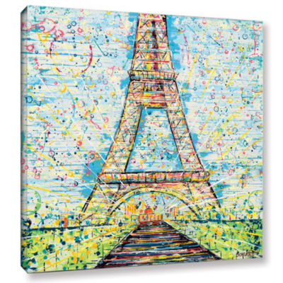 Brushstone Bon Jour Gallery Wrapped Canvas