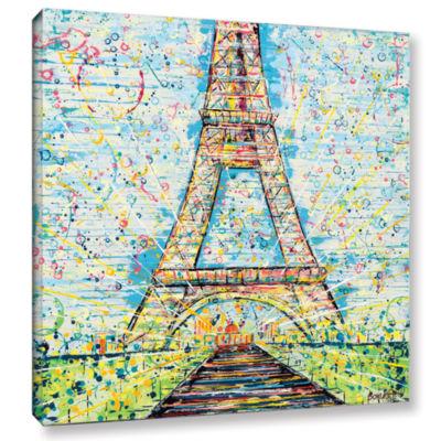 Brushstone Bon Jour Gallery Wrapped Canvas