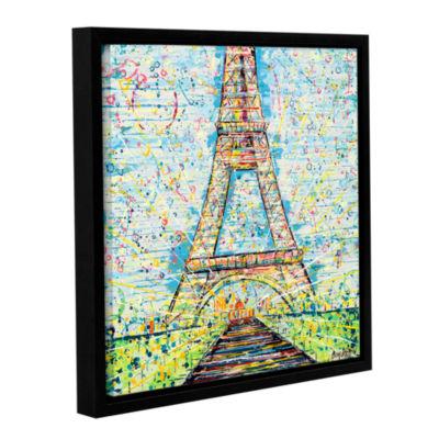 Brushstone Bon Jour Gallery Wrapped Floater-FramedCanvas