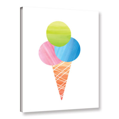 Brushstone 3 Scoops Gallery Wrapped Canvas Wall Art